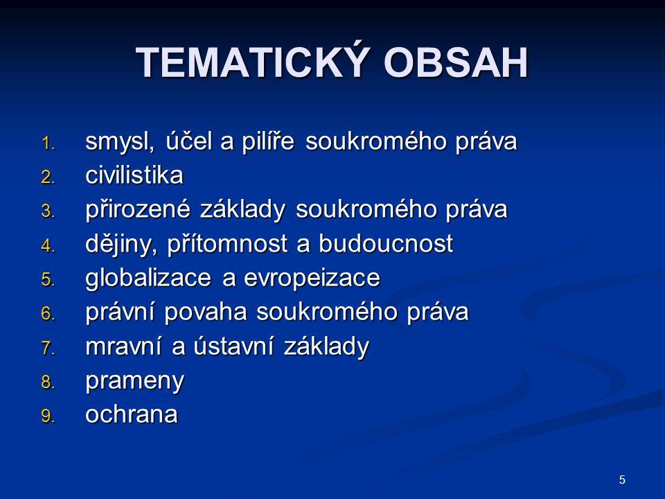 146  Eliáš/Zuklínová, Principy a východiska nového kodexu soukromého práva. Praha 2001.
