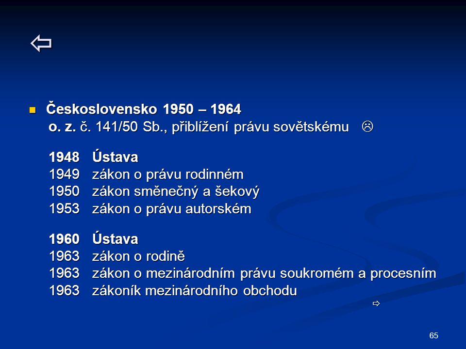 65  Československo 1950 – 1964 Československo 1950 – 1964 o.