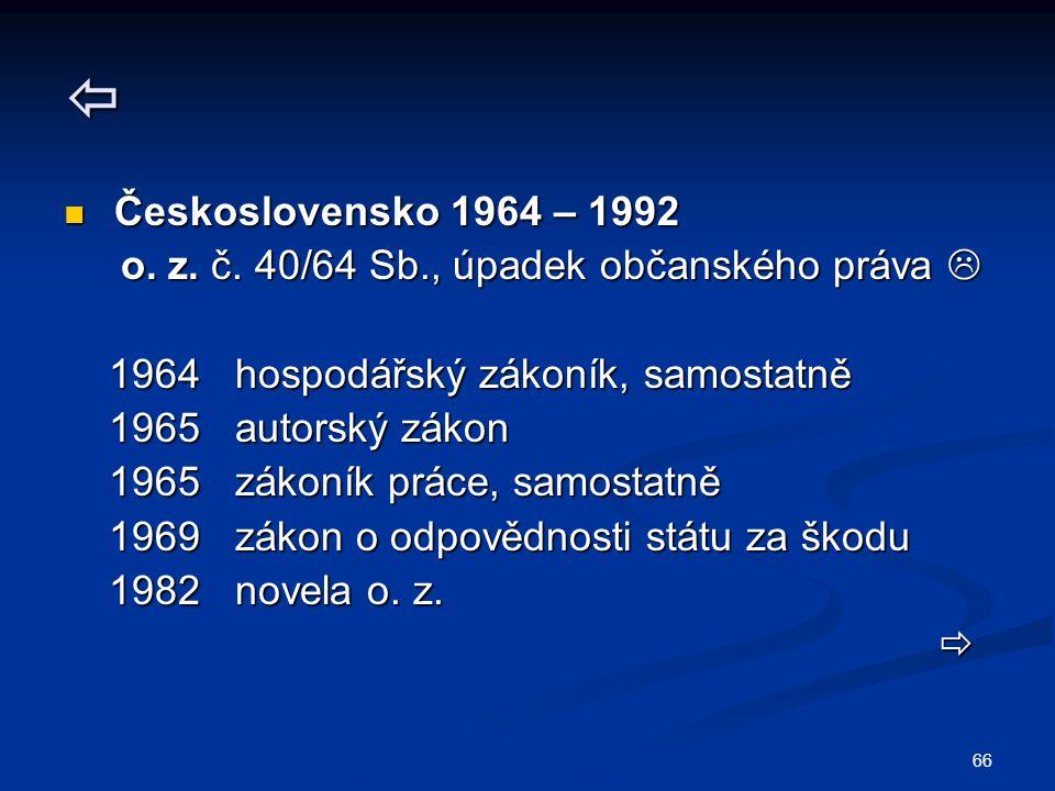66  Československo 1964 – 1992 Československo 1964 – 1992 o.