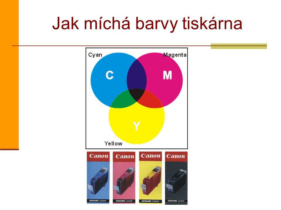 Jak míchá barvy tiskárna