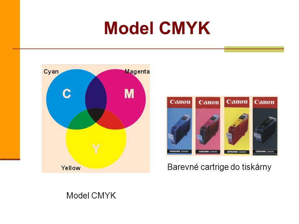 Model CMYK Barevné cartrige do tiskárny