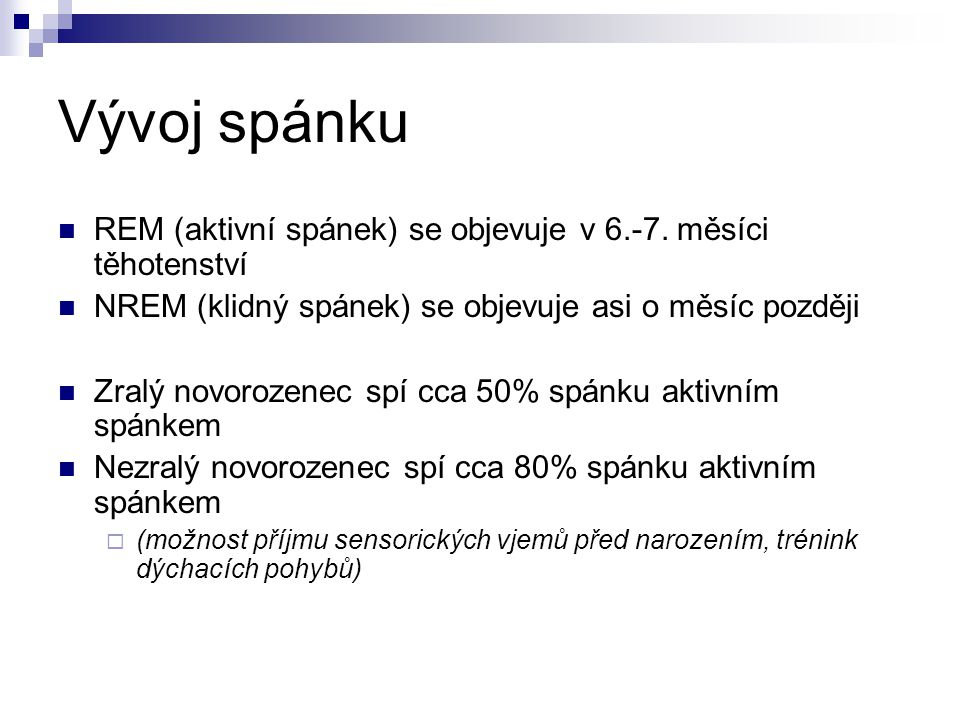 Poruchy zraku a spánek III.