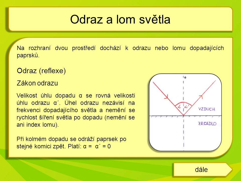 Rozptyl Na nerovném povrchu se světlo rozptyluje (např.