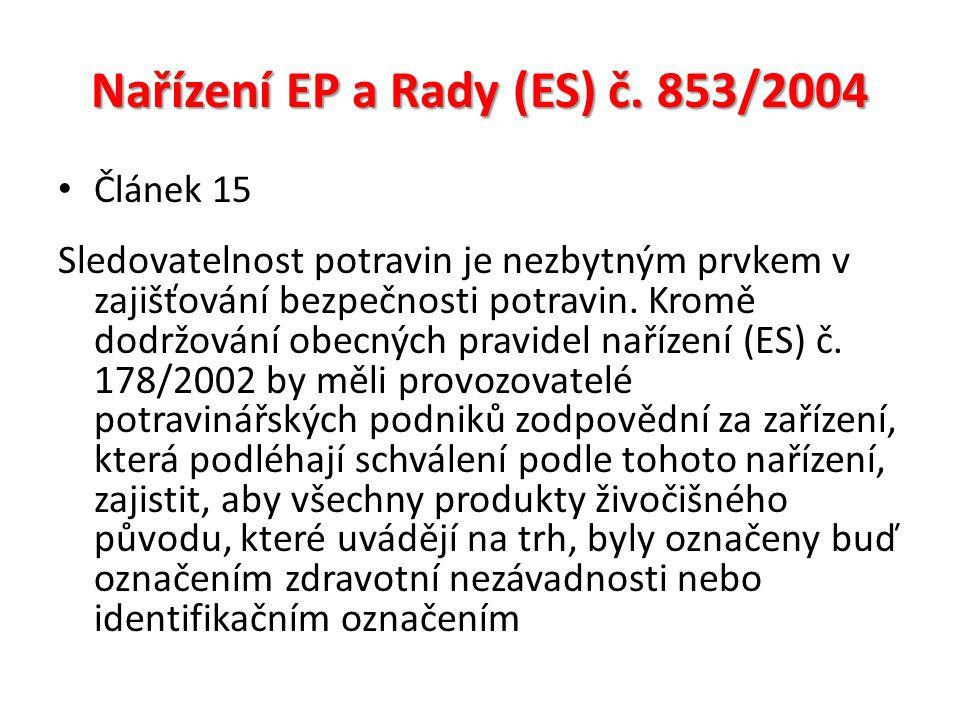Nařízení EP a Rady (ES) č.