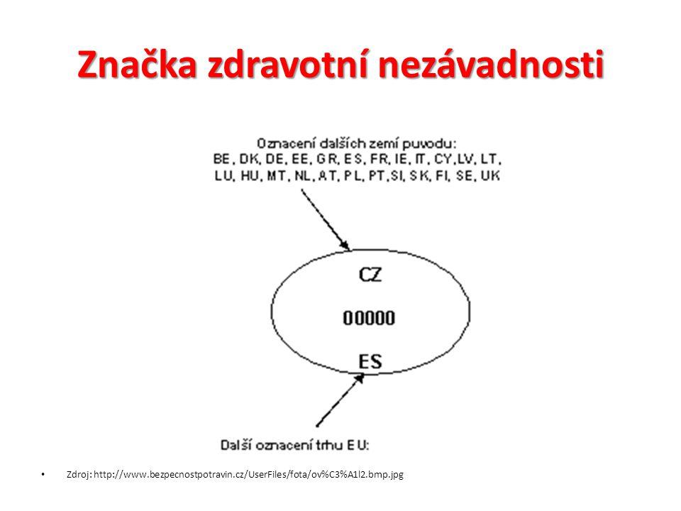 Značka zdravotní nezávadnosti Zdroj: http://www.bezpecnostpotravin.cz/UserFiles/fota/ov%C3%A1l2.bmp.jpg