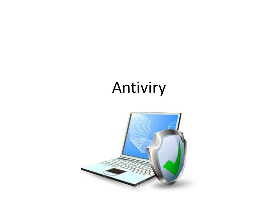 Hlavní druhy ochrany proti malwaru Antivir Firewall AntiSpyware ZDRAVÝ ROZUM!