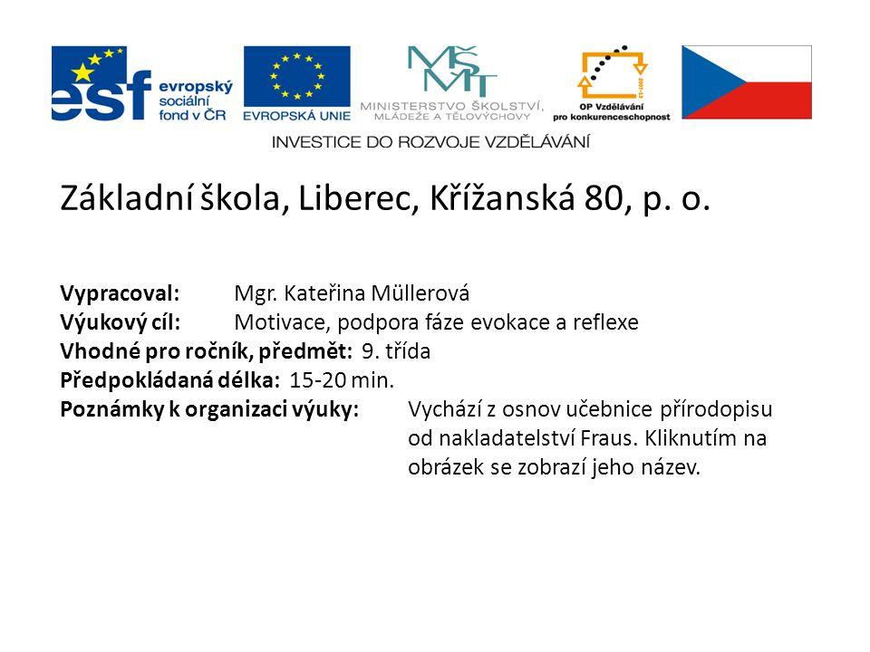 Základní škola, Liberec, Křížanská 80, p.o. Vypracoval:Mgr.