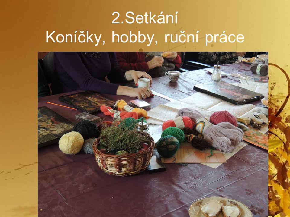 2.Setkání Koníčky, hobby, ruční práce
