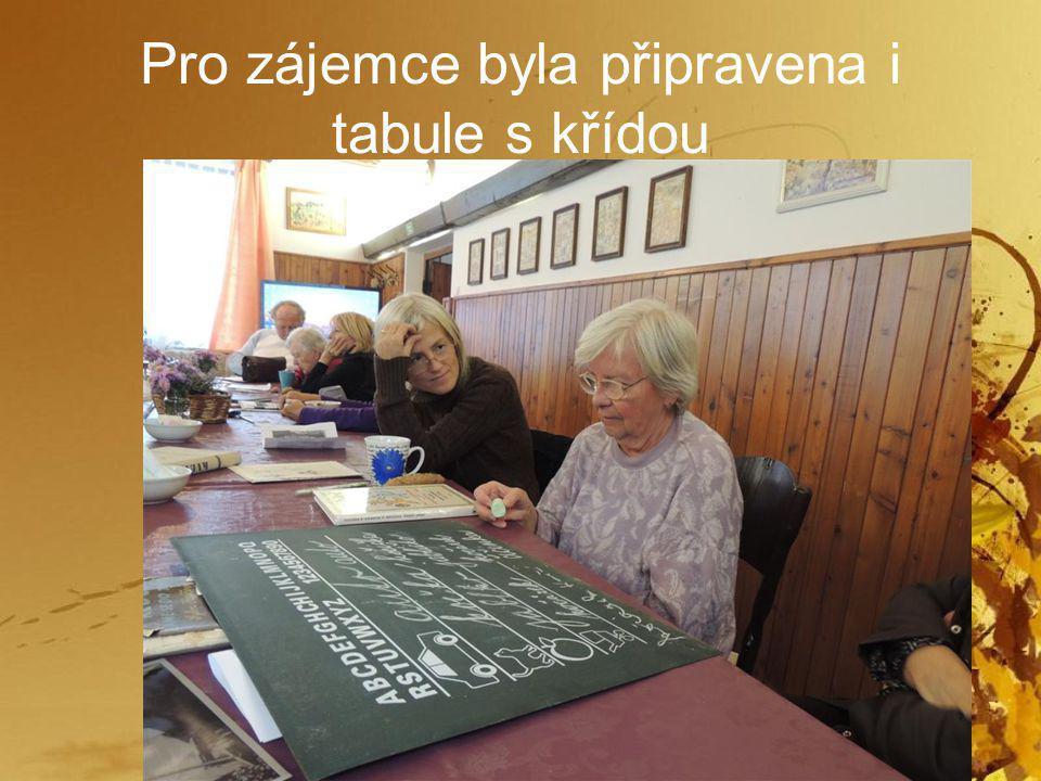 Pro zájemce byla připravena i tabule s křídou
