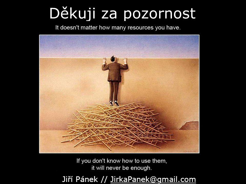 Děkuji za pozornost Jiří Pánek // JirkaPanek@gmail.com