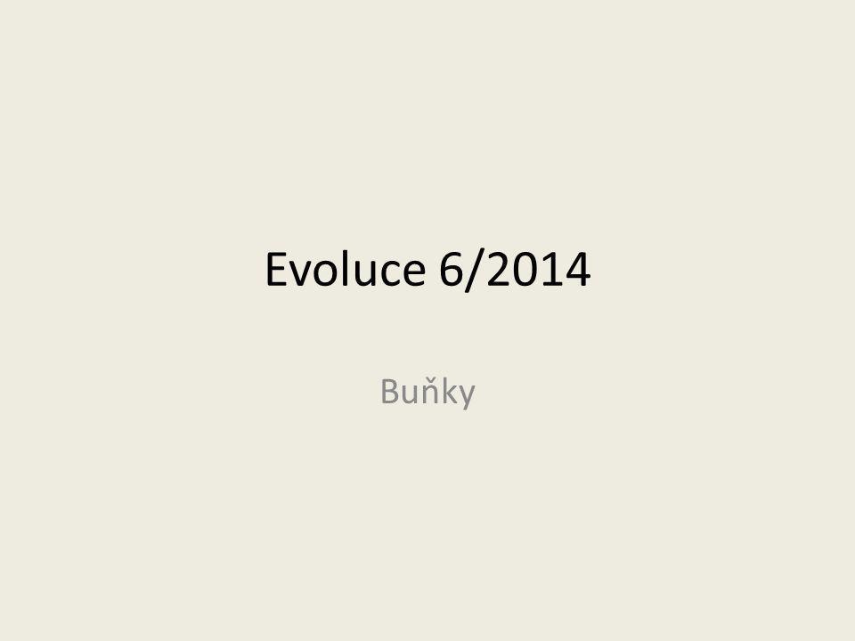 Evoluce 6/2014 Buňky