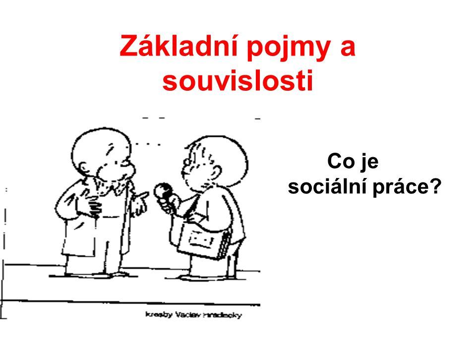 Základní pojmy a souvislosti Co je sociální práce?