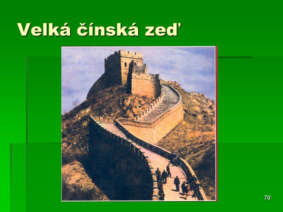 70 Velká čínská zeď