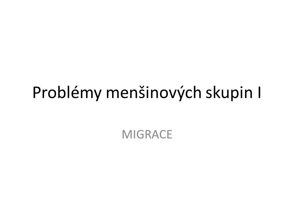 Problémy menšinových skupin I MIGRACE