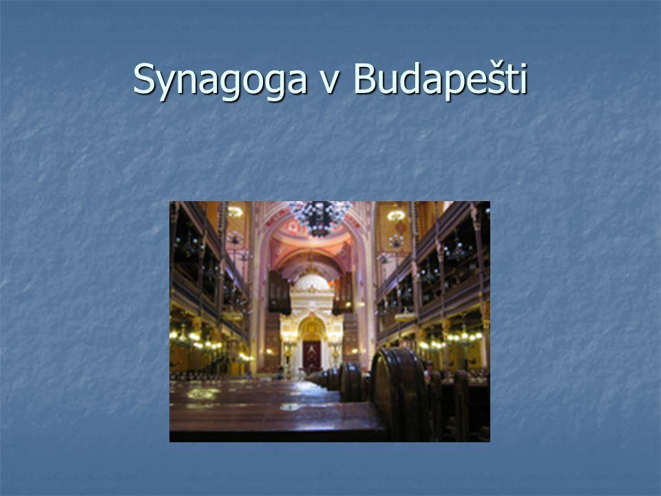 Synagoga v Budapešti