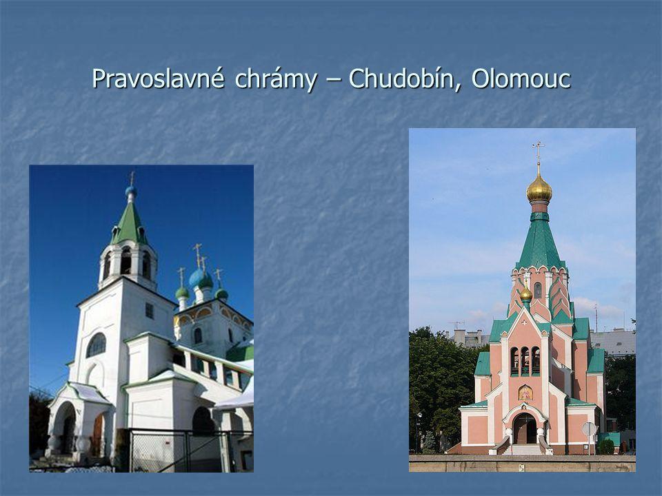 Pravoslavné chrámy – Chudobín, Olomouc