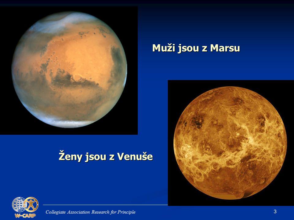 3 Muži jsou z Marsu Collegiate Association Research for Principle Ženy jsou z Venuše