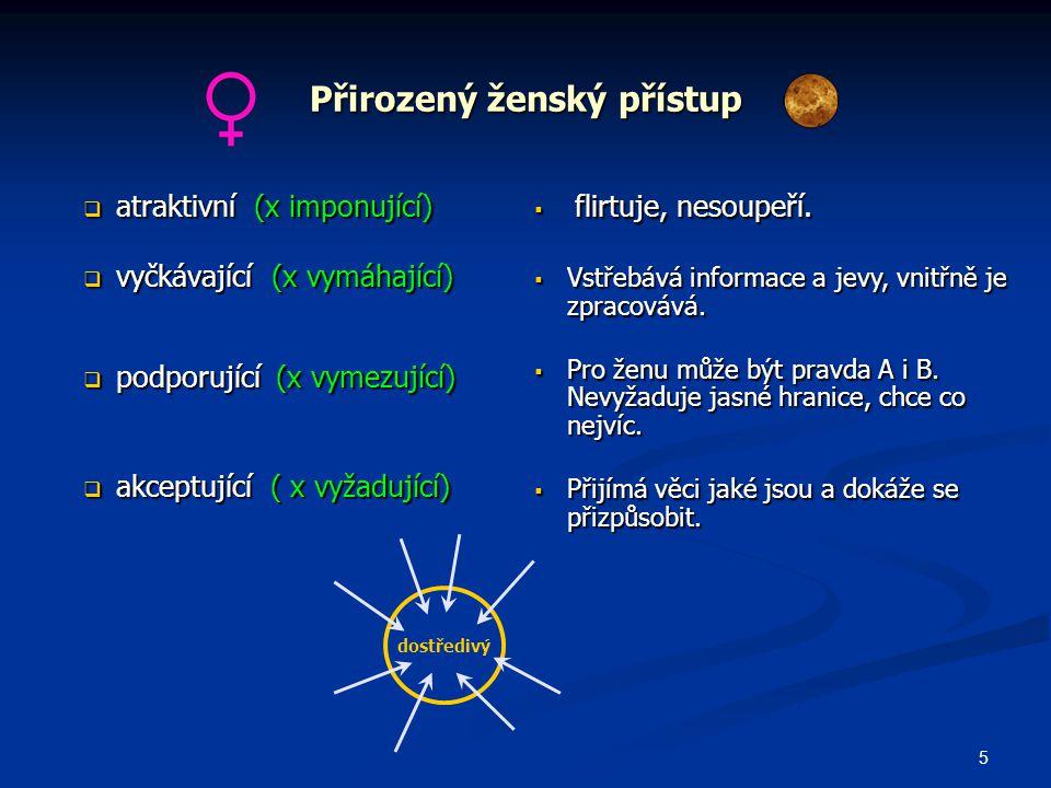 6  aktivně pasivní (x aktivní)  vcítivá ( x nevcítivý)  vcítivá ( x nevcítivý)  Pečuje o síť vztahů.