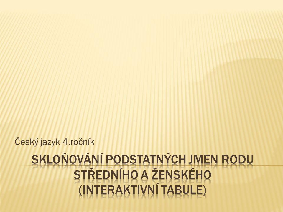 Český jazyk 4.ročník