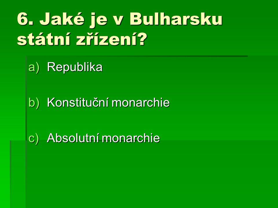 5.Jak se jmenuje pohoří, ve kterém se nachází nejvyšší hora Bulharska.