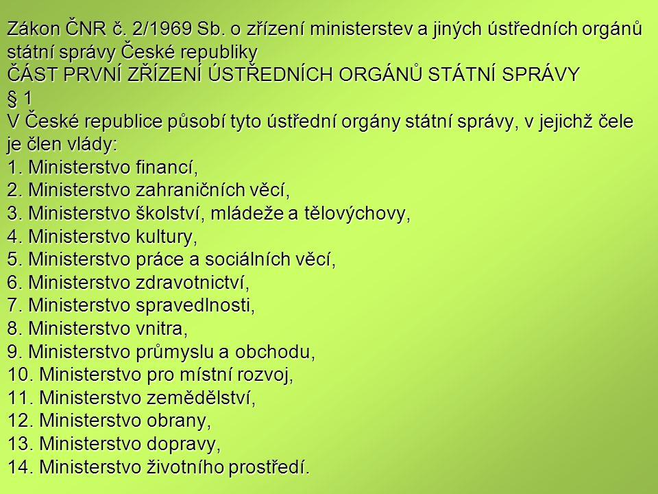 Zákon ČNR č.2/1969 Sb.