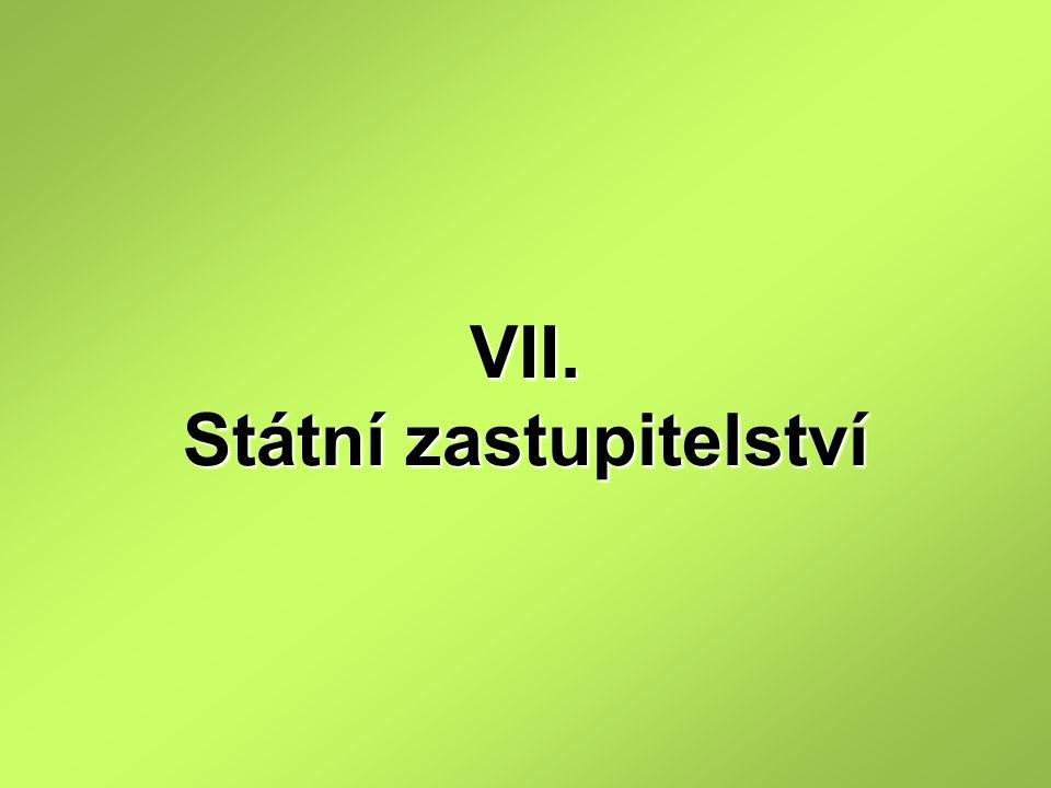 VII. Státní zastupitelství