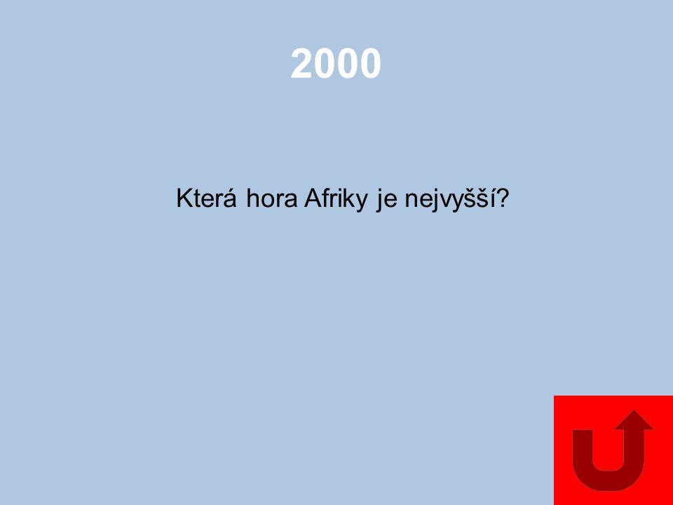 1000 Jak se jmenuje největší pevninský ostrov patřící k Africe?