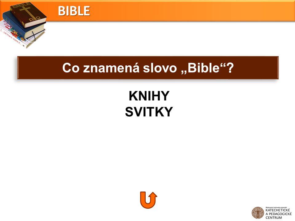 KNIHY SVITKYBIBLE