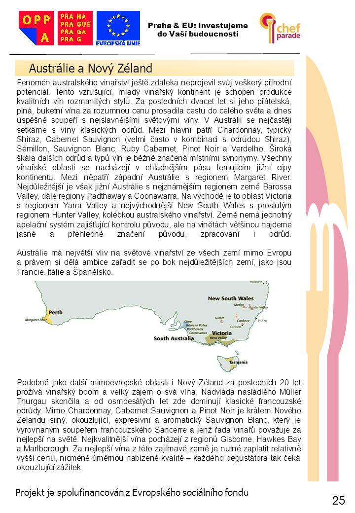 25 Austrálie a Nový Zéland 25 Praha & EU: Investujeme do Vaší budoucnosti Projekt je spolufinancován z Evropského sociálního fondu Fenomén australskéh