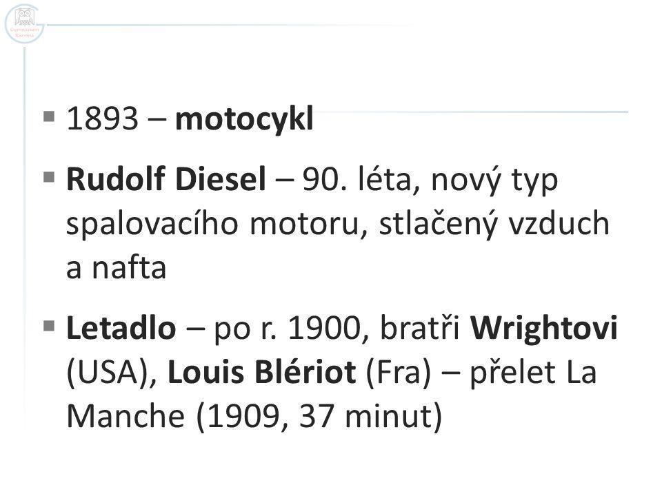  1893 – motocykl  Rudolf Diesel – 90.