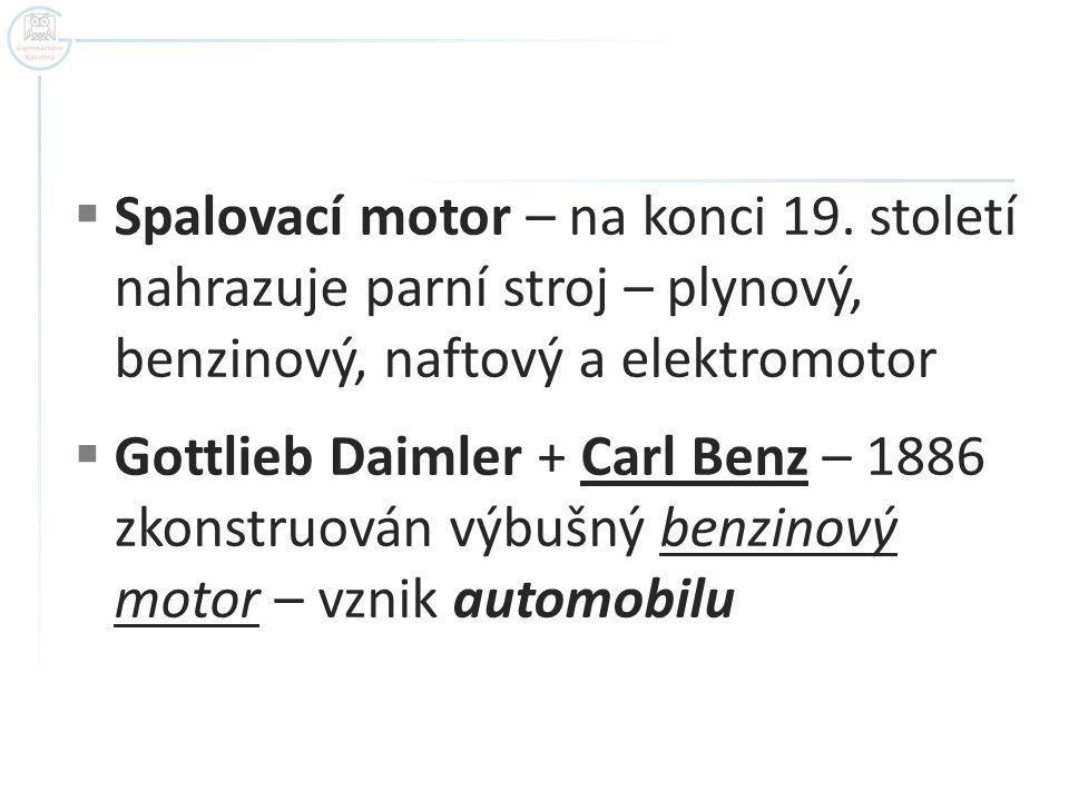 Replika motoru Benzova vozu Autor: own work LSDL 08:32, 21 September 2007 (UTC) 2007-Sept.-19, Název: Benz Patent Motorwagen Engine.jpg Zdroj: http://cs.wikipedia.org/wiki/Soubor:Benz_Patent_Motorwagen_Engine.jpg