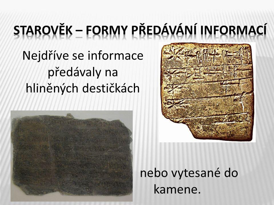 papyrus Po určité době někoho napadlo vyrobit papyrus z rostliny Všechny tyto informace si předávali na stěnách hrobek (byly zdobené malbami, nápisy, a reliéfy, které znázorňovaly výjevy z jejich skutečného života.