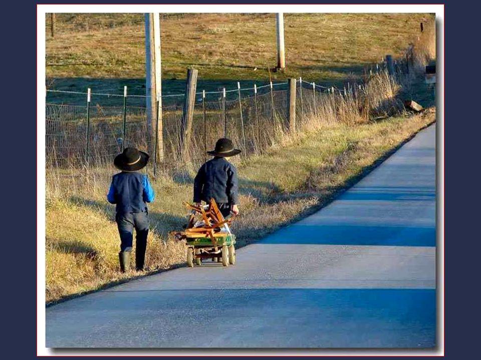 Amish nikoho neobrací na náboženskou víru, nehledají vůbec někoho k obrácení. Jestli náhodou někdo chce pochopit jejich náboženství, dají mu vidle a p