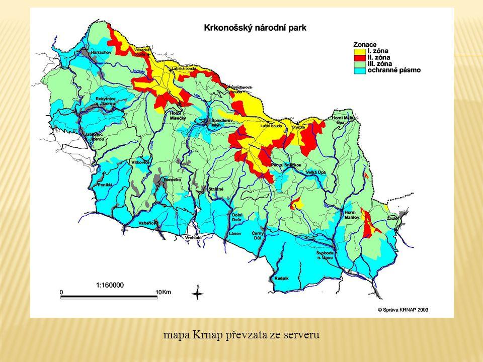 mapa Krnap převzata ze serveru