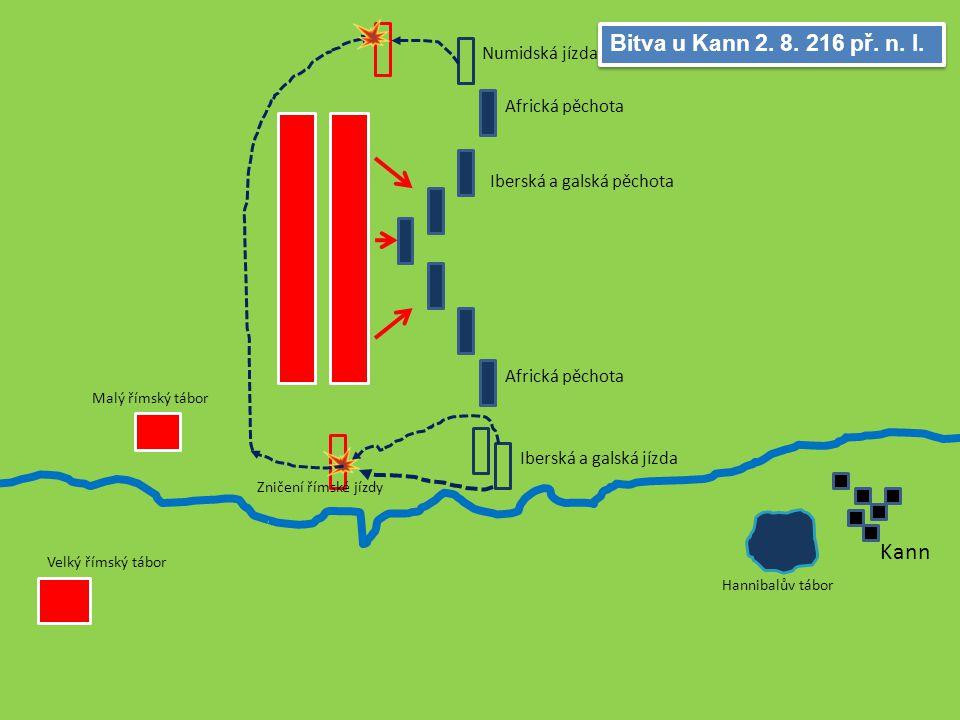 Trasimenské jezero 24. 6. 217 př. n. l. Římské legie Skryté kartaginské vojsko