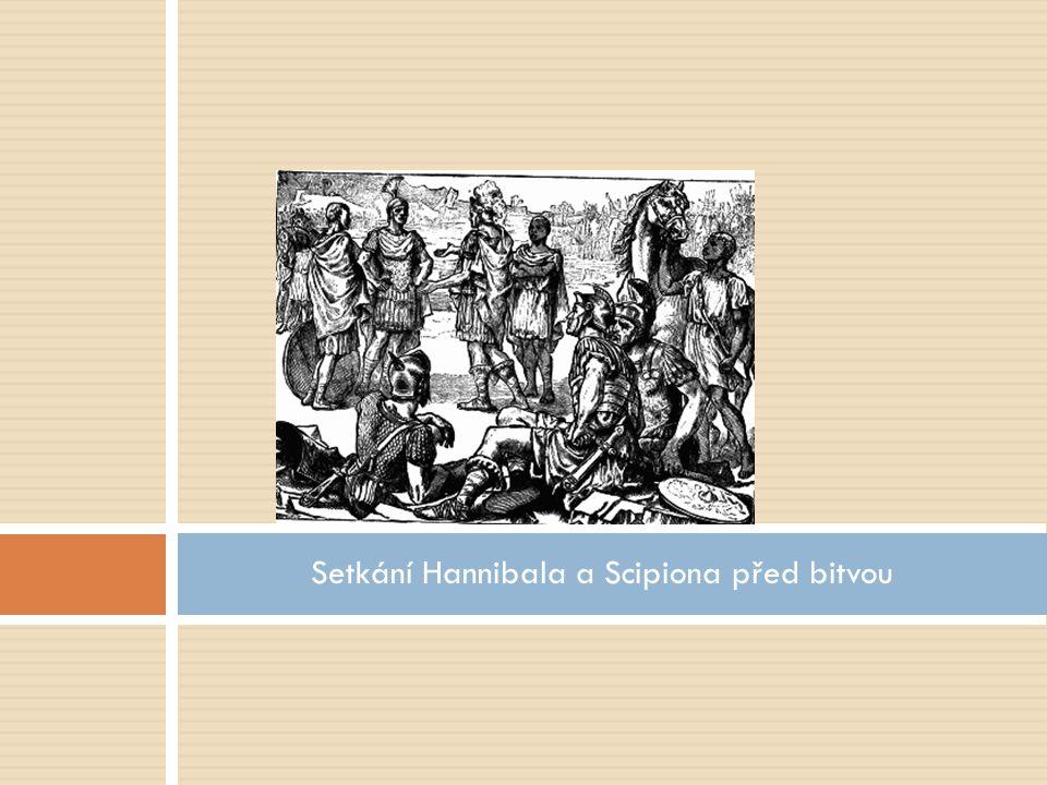 Setkání Hannibala a Scipiona před bitvou