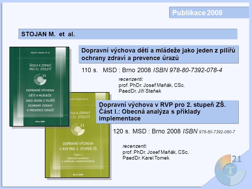 Publikace 2008 STOJAN M.et al.