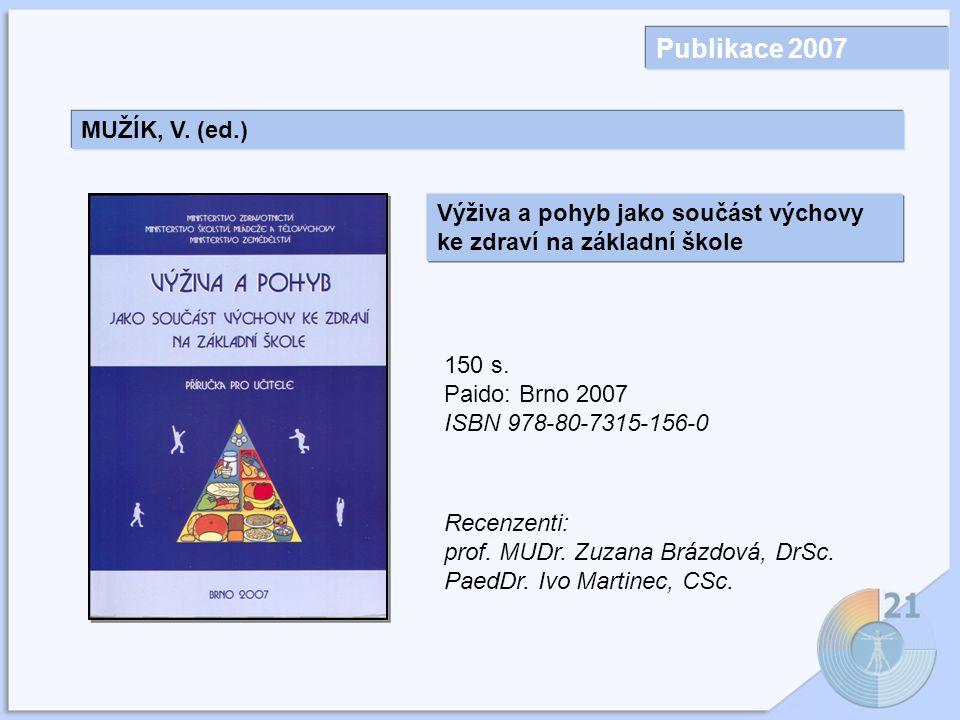 Publikace 2007 MUŽÍK, V.