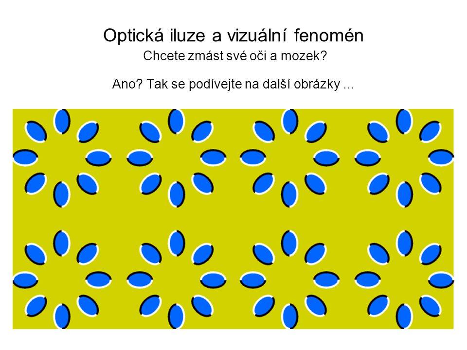 Optická iluze a vizuální fenomén Chcete zmást své oči a mozek? Ano? Tak se podívejte na další obrázky...