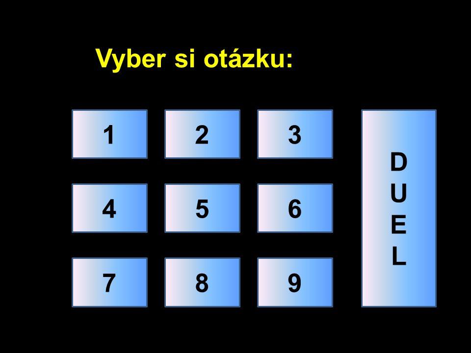 Vyber si otázku: 123 456 789 DUELDUEL