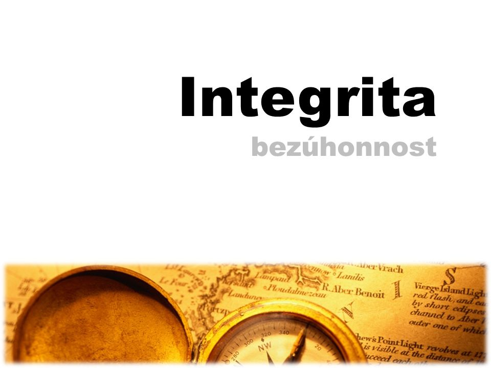Integrita bezúhonnost