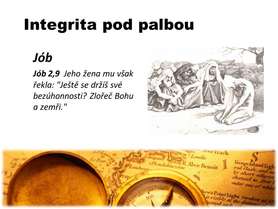 Integrita pod palbou Jób Jób 2,9 Jeho žena mu však řekla: