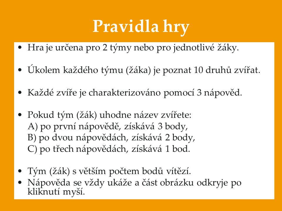 Anotace:  Digitální učební materiál je určen pro opakování, procvičování a upevňování učiva.  Materiál prověřuje znalosti o zvířatech v české přírod