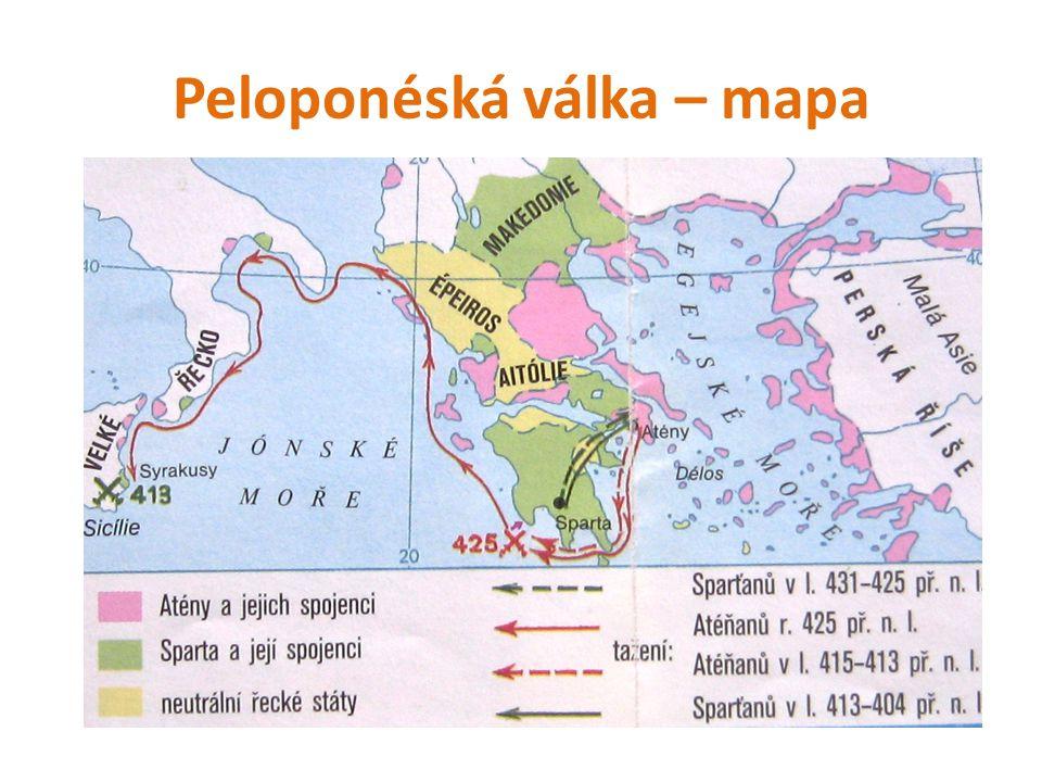 Peloponéská válka Po řecko-perských válkách vzrostla moc Athén.