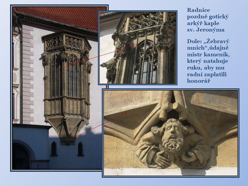 R adnice, jižní strana s arkýřem