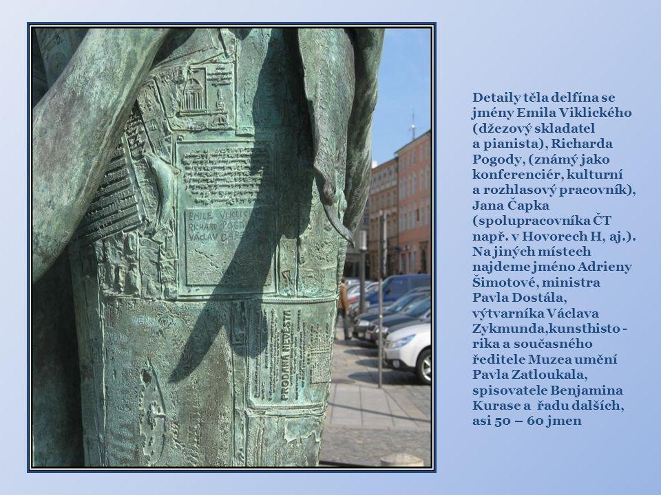 Na různých místech, často umně skryta, se objevují jména současníků a přátel Ivana Theimera