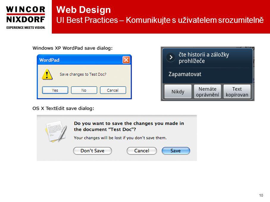 Web Design UI Best Practices – Komunikujte s uživatelem srozumitelně 10