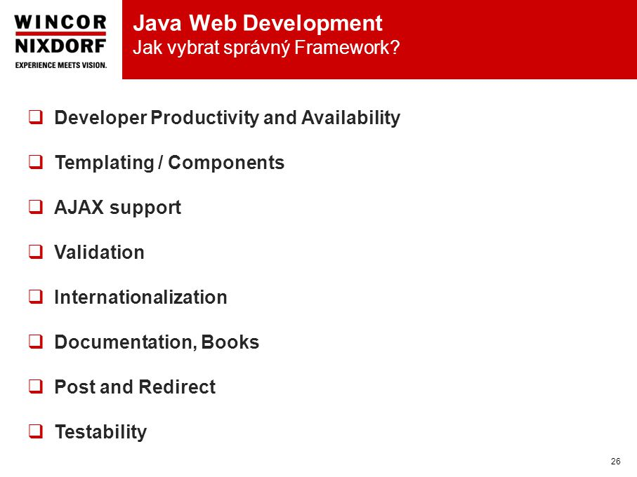Java Web Development Jak vybrat správný Framework.