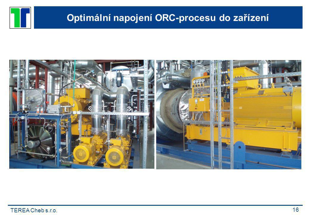 TEREA Cheb s.r.o. 16 Optimální napojení ORC-procesu do zařízení