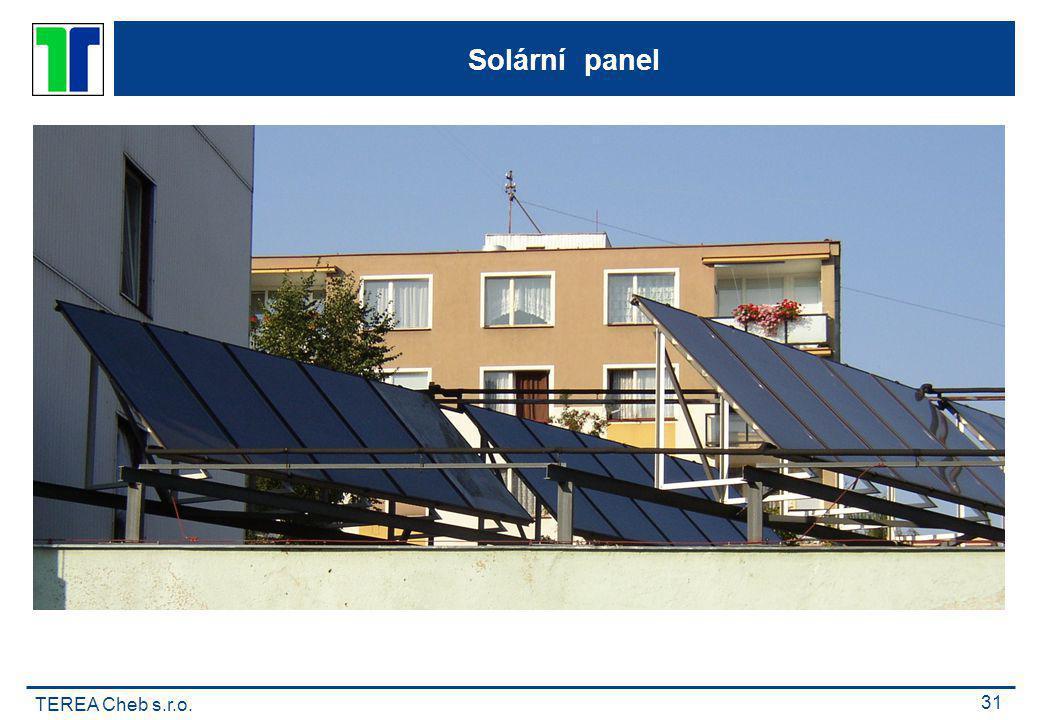 TEREA Cheb s.r.o. 31 Solární panel
